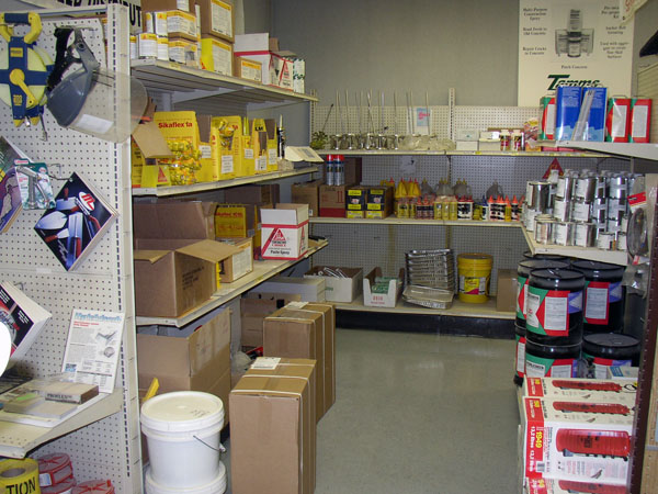 Supplies we stock in our store like sealant